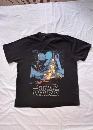 Черная футболка с графическим принтом мерч зведзные войны star wars