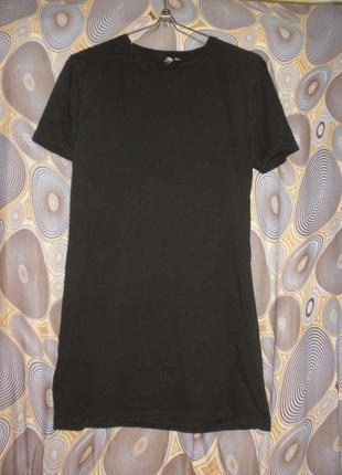 Свободная футболка asos черная длинная футболка платье-футболка база