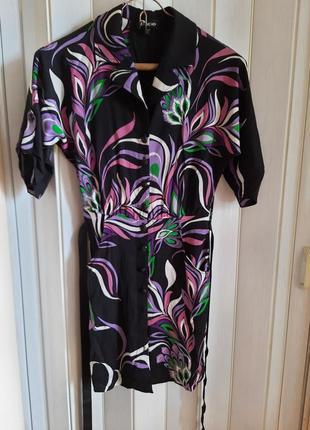 Роскошь шелка! потрясающее платье -халат, натуральный шелк, сша