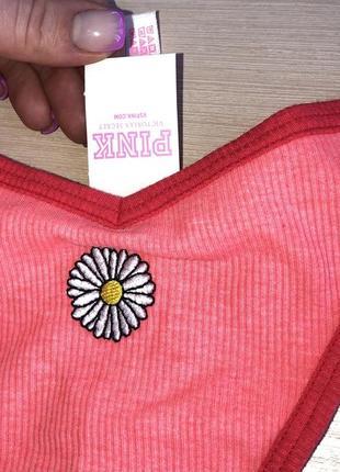 Новые  хлопок стринги с биркой оригинал victoria's secret pink трусы струсики