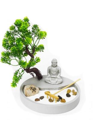 Сувенир дзен набор сад камней будда под деревом