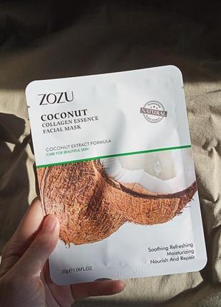 Маска для лица zozu formula collagen fruit с экстрактом кокоса