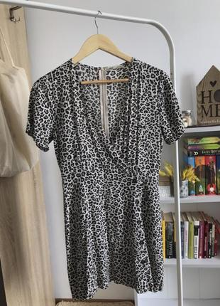 Платье pull&bear в леопардовый принт