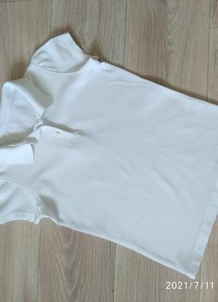 Поло футболка с воротником тениска в школу для девочки