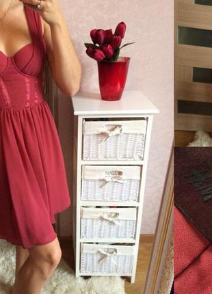 Коралловое платье бюстье h&m  размер: 36(s)