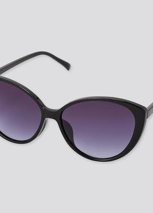 Очки солнцезащитные uniqlo , форма кошачьего глаза, линзами с защитой от uv400