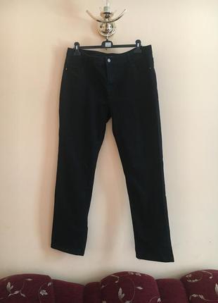 Батал большой размер чёрные тёмные прямые джинсы джинсики штаны штаники штаны штаники брюки