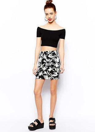 Стильная юбка с трендовым принтом new look