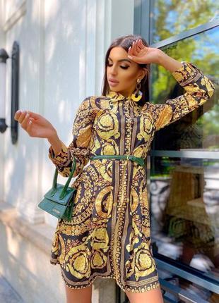 Платье-рубашка в стиле барокко
