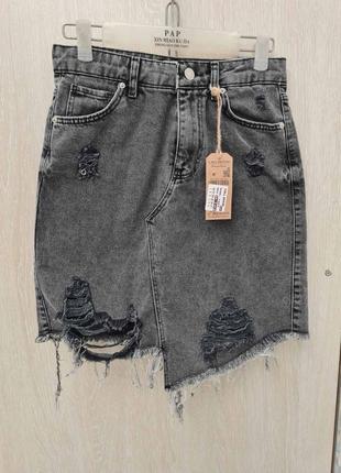 Стильная джинсовая юбка 👍тренд сезона👍