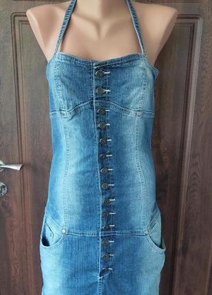 Продам джинсовый сарафан.