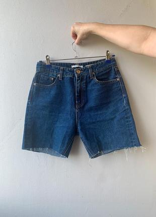 Синие джинсовые шорты stradivarius