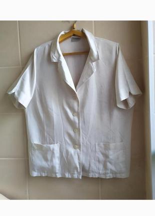 Стильный пиджак жакет натуральная ткань большого размера