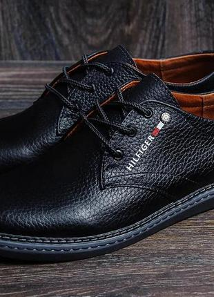 Мужские кожаные туфли  tommy hilfiger