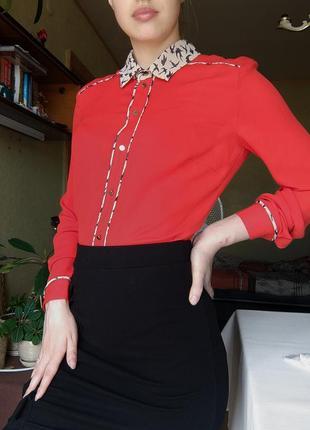 Красная рубашка kira plastinina