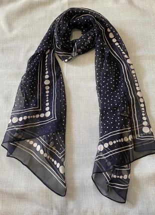 Красивый шелковый платок шарф 100% шёлк