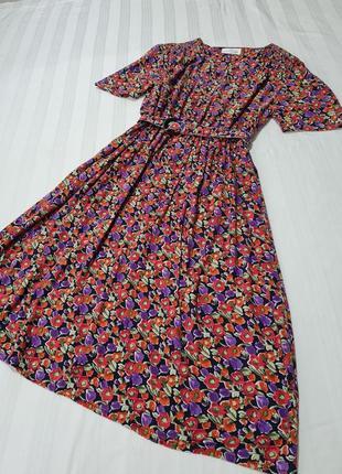 Брендовое платье mark's and spencer натуральная ткань размер 1 хл