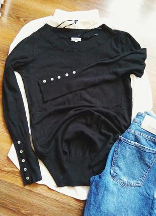 Базовый черный джемпер, кофта