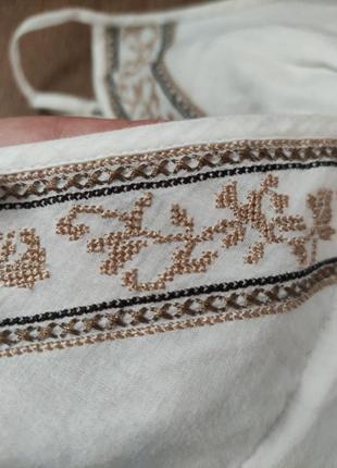 Котоновый сарафан вышиванка3 фото