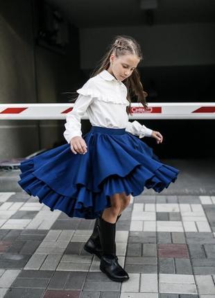 Школьный набор : юбка волан mlyna