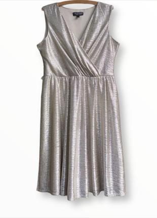 Нарядное красивое платье серебро dorothy perkins