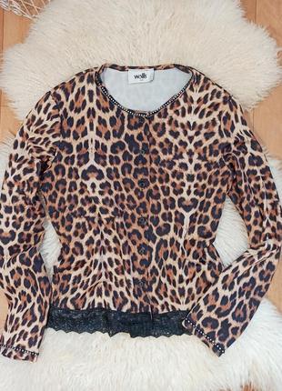 Пиджак накидка принт тигр леопард шикарный