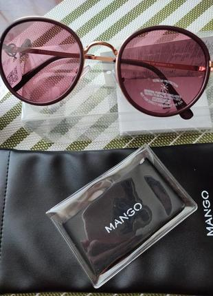 Очки солнцезащитные mango, с чехлом