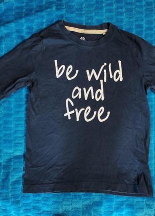 Синяя кофта be wild and free