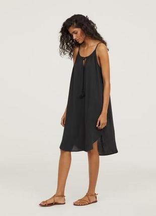 Лёгкий натуральный сарафан, платье от h&m.