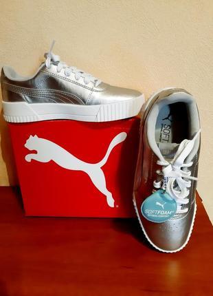 Оригінальні жіночі кросівки снікерси puma carina metallic.
