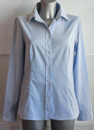 Рубашка  hugo boss из качественного материала в полоску