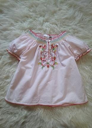Блуза футболка с вышивкой h&m2 фото