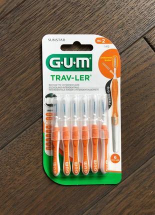 G.u.m trav-ler міжзубні йоршики 0.9 мм, 6 штук
