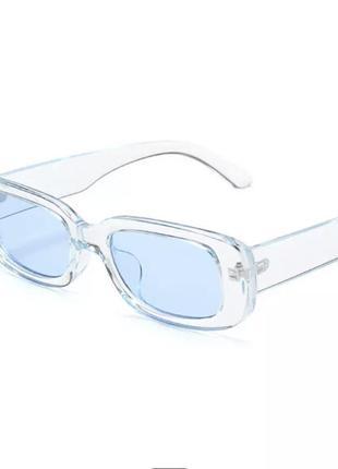 Голубые винтажные очки