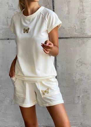 Базовый женский комплект  футболка и шорты