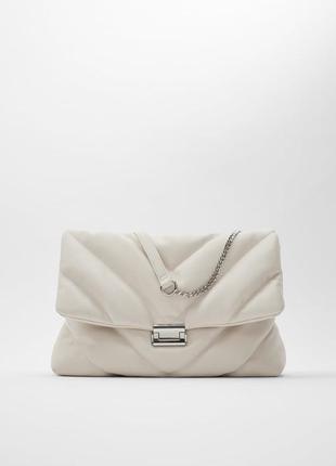 Новая белая стеганая сумка