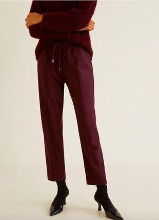 Новые бордовые ягодные брюки джоггеры