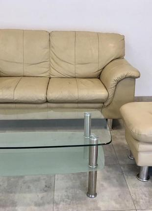 Комплект мебели диван, стол, пуф