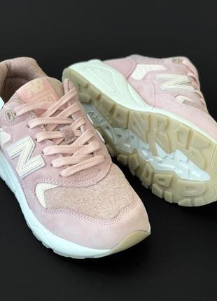 Женские кроссовки нью баланс🆕new balance 580🆕шикарные кроссовки розовые с белым