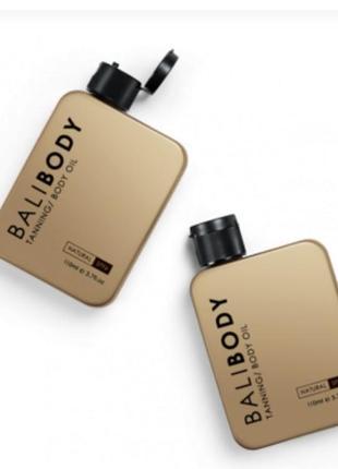 Натуральное масло balibody для загара и тела с фактором защиты spf6
