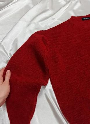 Теплый свитер - оверсайз с объмными рукавами dilvin4 фото