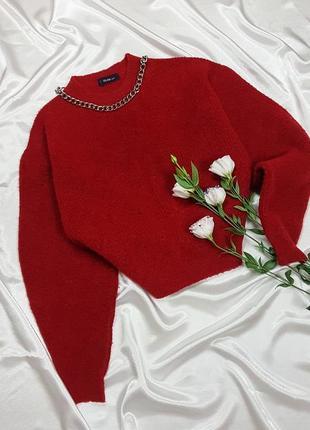 Теплый свитер - оверсайз с объмными рукавами dilvin