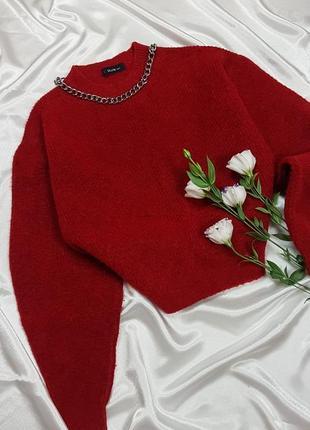 Теплый свитер - оверсайз с объмными рукавами dilvin3 фото