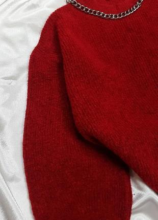 Теплый свитер - оверсайз с объмными рукавами dilvin9 фото