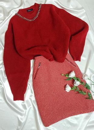 Теплый свитер - оверсайз с объмными рукавами dilvin2 фото