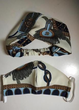 Комплект: повязка на голову + защитная маска