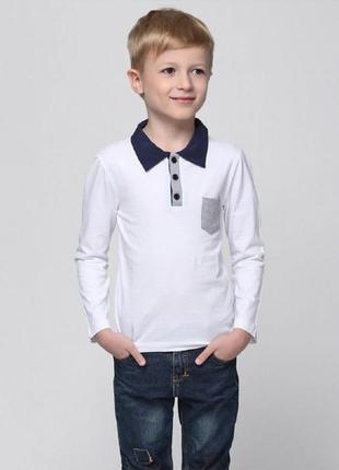 Кофта для мальчика с воротником и карманом