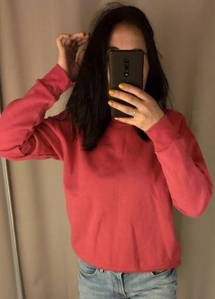 Свитшот primark, малиновая кофта , свитер