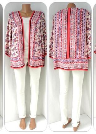 Большой выбор! красивое кимоно, накидка indigo (marks & spencer). размер uk18(xlxxl,наш 52).