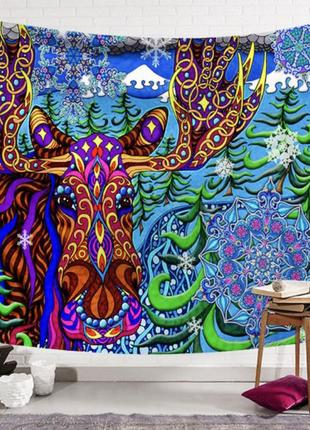 Картина текстильная гобелен на стену лось